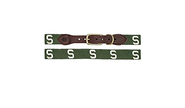MSU Block S Needlepoint Belt