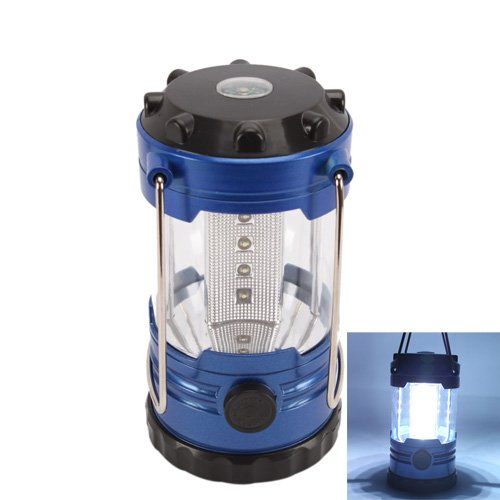 12 LED Portable Camping Camp Lantern Light Lamp with Compass, Outdoor Stuffs