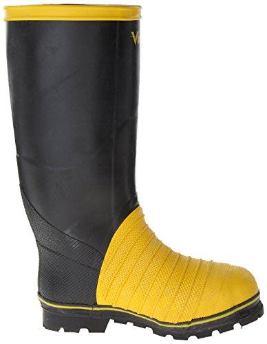 Viking Footwear Miner 49er Lång Vattentät Boot Svart / Gul