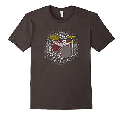 Mens Drum set T shirt - Gift for drummer Small (Drum Set Mens T-shirt)