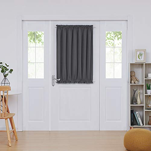 Deconovo Door Curtains Thermal Insulated Blackout Curtain Door Window Panel Curtain 54x40 Inch Dark Grey 1 Panel]()
