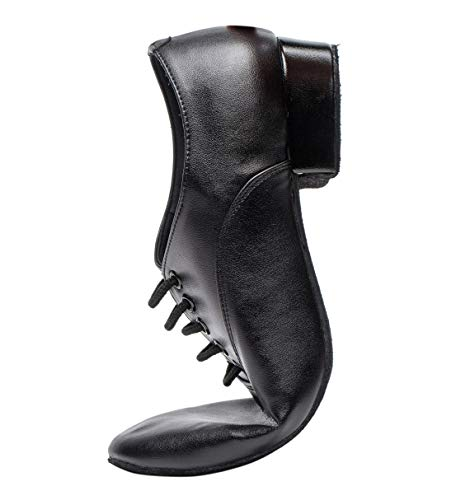 Image of Gogodance Men's Boys Professional Lace-up Black Leather Latin Salsa Tango Ballroom Modern Dance Shoes