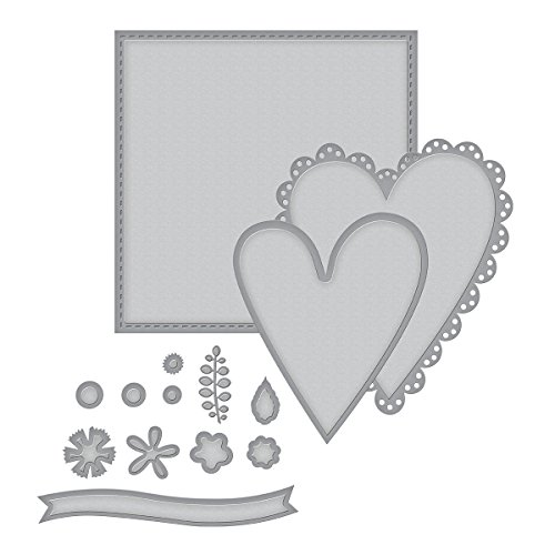 Spellbinders Shapeabilities Sew Sweet Valentine by Tammy Tutterow Etched/Wafer Thin Dies (Shapeabilities Collection)
