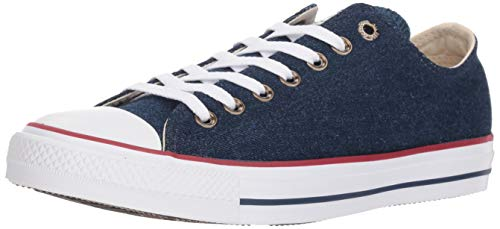 (Converse Chuck Taylor All Star Ox Unisex Shoes Dark Blue/Natural Ivory/White 161489f (5 D(M))