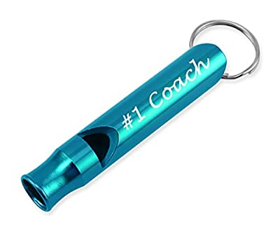 #1 Coach 3D Laser Engraved Whistle Key Chain Gift