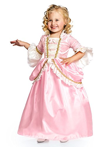 (Little Adventures Pink Parisian Princess Dress up Costume Girls (Large Age)