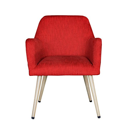 Mid Century Modern Indoor Muted Fabric Arm Chair Accent With High Thin Legs AC1504 By Living Express