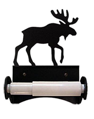 Moose Toilet Paper Holder - Monazite TT-B-19 Moose Toilet Tissue Holder With Plastic Roller Powder Metal Coated