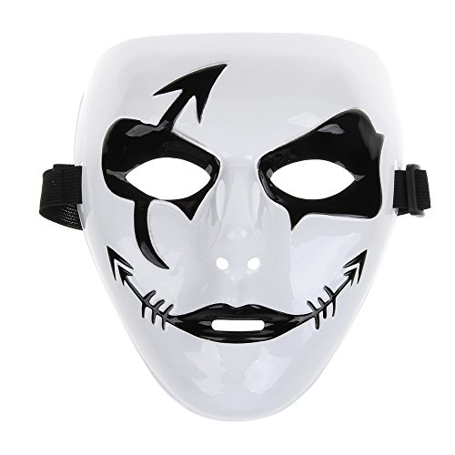 Fashion Hip-hop Style Mask for Halloween Party - Black + White (Halloween Masks Scary)