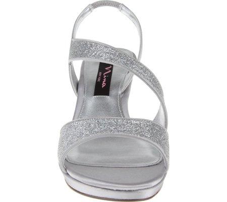 Nina Kvinder Newark Sandal Sølv Glitter lDjSW