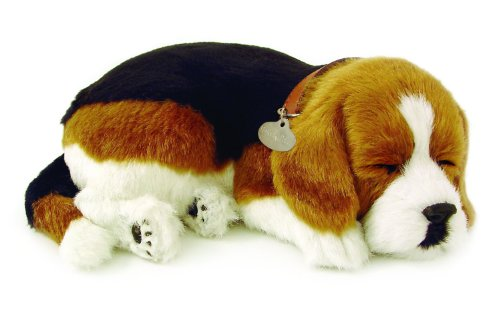 Sleeping Beagle Plush Dog