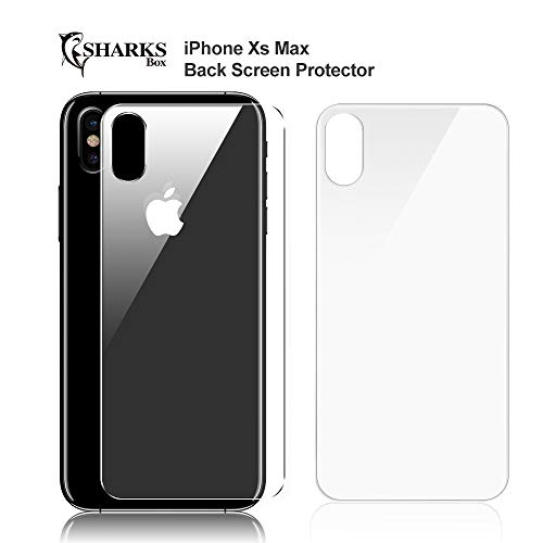 iPhone XS max screen protector Pack of 2|Best iPhone XS Max Anti-Fingerprint Back Glass Screen Protector|6.5 Inch Tempered Glass Screen Protector iPhone XS Max with Scratch Resistant Feature|SHARKSBox
