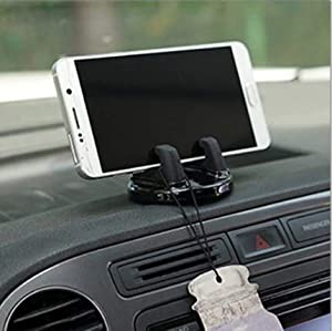TRUE LINE Automotive Car Cell Phone Dashboard Mounted Holder 360 Degrees Swivel Mounting Kit (Black)