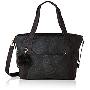 Kipling LITTLE HEART School Bag, 50 cm, 19 liters, Black (Black Pylon Emb)