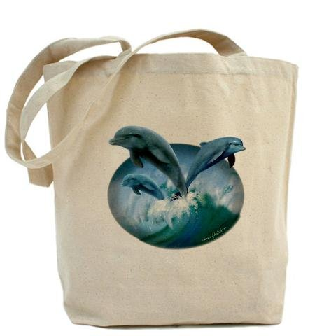 Waves di delfini Art by CafePress Tote Bag