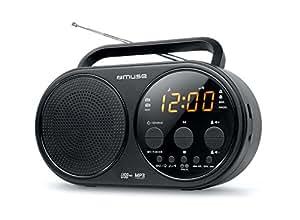Muse M-088R - Radio (Personal, Analógico, FM, MW, LCD, Ámbar, 3.5 mm) Negro, Plata