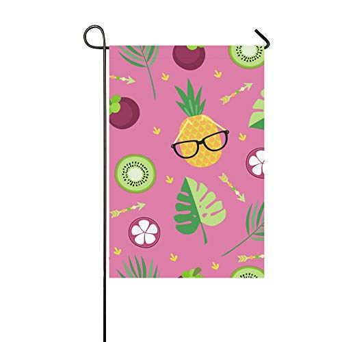 YUMOING Home Decorative Outdoor Double Sided Cute Color Fashion Fruit Mangosteen Garden Flag House Yard Flag Garden Yard Decorations Seasonal Welcome Outdoor Flag 12x18in Spring Summer Gift