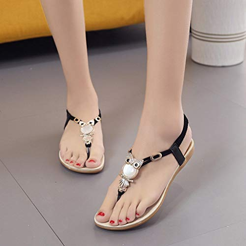 3a29ddd4d976f Nevera Ladies Flip-Flops Bohemian Elastic Strappy Thong Ankle Strap ...