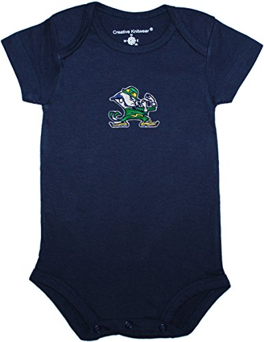Notre Dame University Leprecaun Newborn Baby Bodysuit,Navy,6-9 Months
