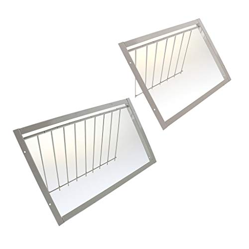 (Flameer 2 Pcs Durable Racing Pigeon Bird Cage Iron Entrance Wire Trap Door Curtain)