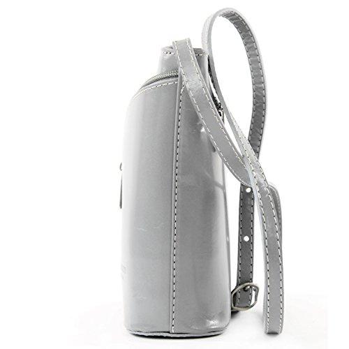 D19 sac italienne bandoulière Sac petite à sac main Grau Strauß à sacoche femme aAnxFwAqP