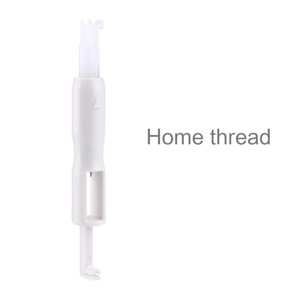 Enhebrador de aguja familiar, aplicador de herramienta de inserción para máquina de coser color blanco: Amazon.es: Hogar