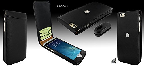 Piel Frama 689 Black Magnetic Leather Case for Apple iPhone 6 Plus / 6S Plus by Piel Frama (Image #5)