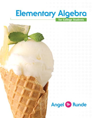 Elementary Algebra For College Students (9th Edition)