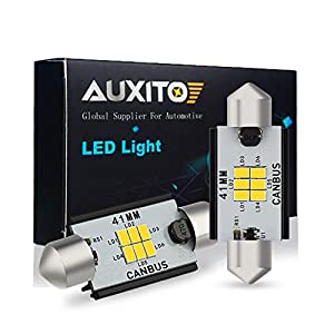 picture of AUXITO 578 LED Bulbs 400 Lumens Canbus Error Free 211-2 212-2 41MM 42MM Festoon LED Bulbs for Dome Light Interior Car License Plate Map Door Courtesy Lights Xenon White, Pack of 2