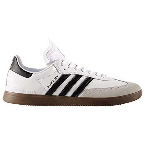 adidas Samba ADV, Scarpe da Skate Uomo Bianco (Ftwbla/Negbas/Gum5)