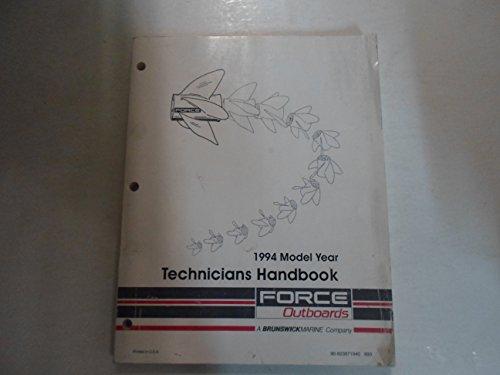 (1994 Force Outboards Technicians Handbook Manual WORN)