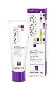 Andalou Naturals Ultra Sheer Daily Defense Facial Lotion SPF 18, 2.7 Ounce