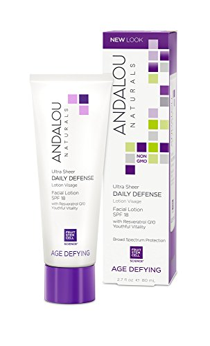 Andalou Naturals Ultra Sheer SPF 18 Daily Defense Facial Lotion, 2.7 Ounce