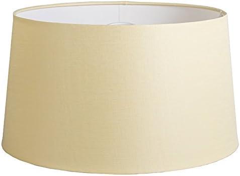 QAZQA Lino Pantalla 45cm cónica DS E27 lino crema, Redonda/Cónica Pantalla lámpara colgante,Pantalla lámpara de pie: Amazon.es: Iluminación