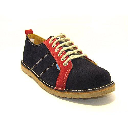 R906FP - Zapato deportivo azul marino - rojo