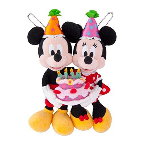 【도쿄 디즈니 리조트 한정】 미키&미니 봉제인형 뱃지 생일 버스데이 기념