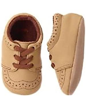 Baby Boy's Woodland Tail Tan Crib Shoes