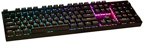 Redragon K551-RGB Gaming Mechanical USB Keyboard with Blue Switches, Vara, 104 Key RGB Backlit Illuminated Computer Keyboard for Windows PC Games - Black [RGB]