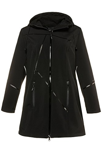 Casual Hiver Taille Manteau Sweatshirt 714777 Veste Ulla Grandes Popken Noir Outwear Fermeture Pullover Tailles Sport Hoodie Manteaux Long Grande Femme Femme wAvZq8X