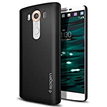 LG V10 Case, Spigen Thin Fit - Premium Matte Finish Coating for LG V10 (2015) - Black