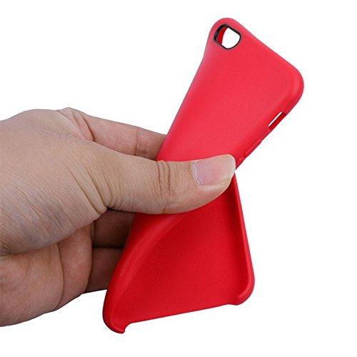 Phone Taschen & Schalen Anti-Rutsch-mattierter TPU-Koffer für iPhone 6 Plus & 6S Plus ( Color : Red )
