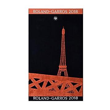 CARRE BLANC Drap de plage Roland-Garros 2018 joueur - marine: Amazon ...