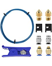 Beauneo 3D Printer Kit with for Premium XS Bowden Tubing,PTFE Tube Cutter, Pneumatic Fittings and MK8 Socks and Nozzles