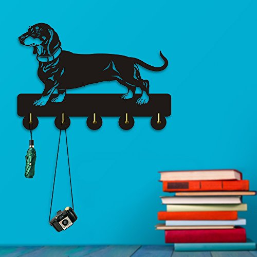 Dachshund Dog Wall Door Wall Hook Hanger Animals Handbag Coat Bathroom Kitchen Toilet Retro Holder Gift for Dog Lover by The Geeky Days