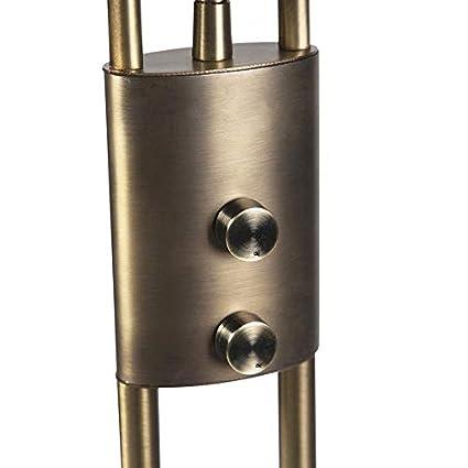 QAZQA Moderno Lampara de pie moderna bronce con brazo de lectura LED - MALLORCA Vidrio/Metálica Alargada Incluye LED Max.