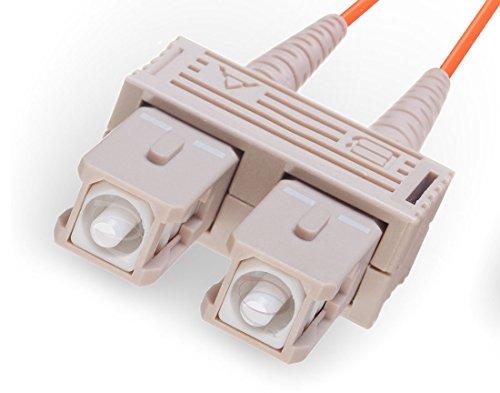 FiberCablesDirect - 150M OM1 SC SC Fiber Patch Cable | 1Gb Duplex 62.5/125 SC to SC Multimode Jumper 150 Meter (492.12ft) | Length Options: 0.5M - 300M | 1gb 10gb mmf sc-UPC sfp 1gbase PVC ofnr sc-sc by FiberCablesDirect (Image #1)