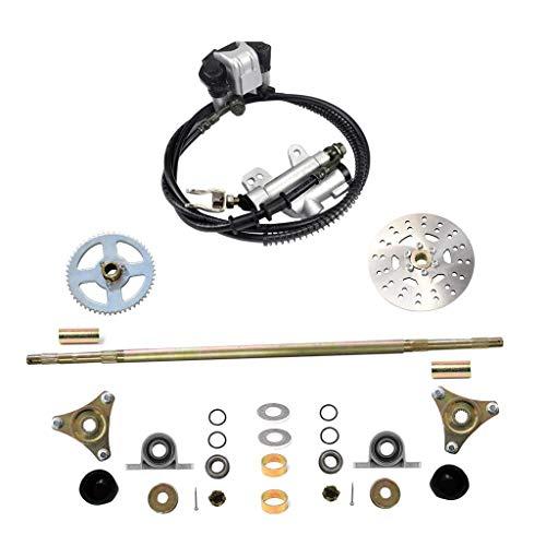 WPHMOTO Rear Axle Assembly Complete Wheel Hub Kit & Brake Assembly for Go Kart Quad Trike Drift Bikes (Go Kart Brake Assembly)
