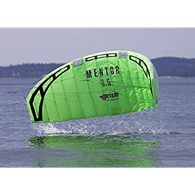 Prism Mentor 2.5m Water-relaunchable Three-line Power Kite Ready to Fly with Control bar, Ground Stake and Quick Release Safety Leash: Sports & Outdoors