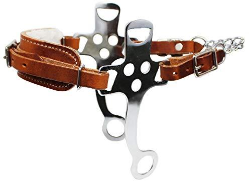 Horse Western English Leather Fleece Padded Bitless Hackamore Tack 35153
