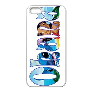 TYH - K-G-X Phone case For Apple Iphone 5 5S Cases Case-Pattern-16 Cute Bunny Stitch - Ohana Means Family Protective Back Case phone case